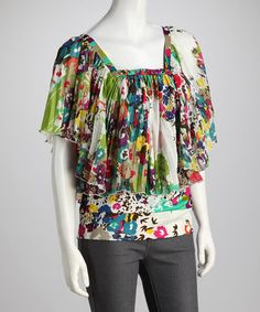 Take a look at this Ivory & Green Confetti Top - Women by Madison Paige on #zulily today! $14.99, regular 80.00