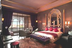 Romantic Bedroom Ideas with Luxury Bed Furniture Decoration and Stunning Window Treatments
