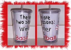 baseball mom, winter, football, cups, season