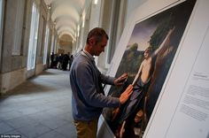 Disobedience: One blind visitor gets his hands on a work by Antonio da Correggio - suitably entitled Don't Touch Me