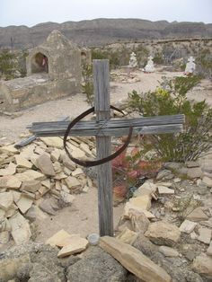 Cemetery at the Terlingua Ghost Town in West Texas http://www.elizabethagarciaauthor.com/books.html
