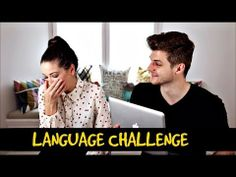 language challenge with zoella and jim Jim Chapman, British Youtubers, Zoella, With All My Heart, I Tried, Challenges, Language, Funny Videos, Face