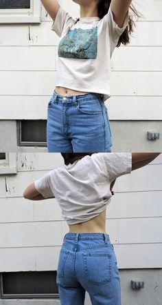 American Apparel mom jeans - http://ninjacosmico.com/boyfriend-jeans-vs-mom-jeans/