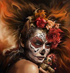 La catrina doll2orange doll maskcom by ~Okiran9 on deviantART