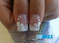 Acrylic Nails French for brides