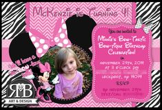 Minnie Mouse themed Birthday Party invitation designed by #RmbArtandDesign  #invitation #birthdayparty