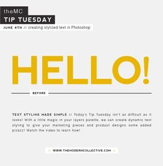 Creating Stylized Text In Photoshop // Tip Tuesday   The Modern Collective