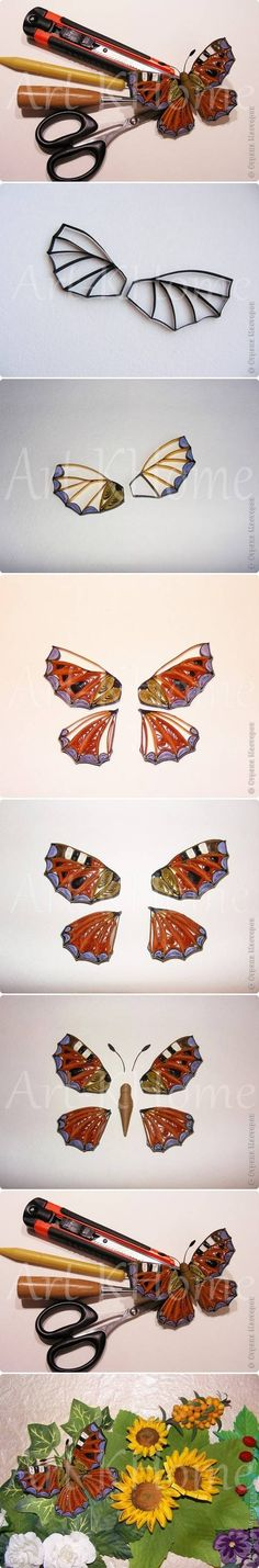 DIY Beautiful Quilled Butterfly