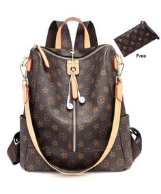 Casual Purse Fashion School Leather Backpack Crossbady Shoulder Bag Mini Backpack for Women and Teenage Girls BLACK BROWN >>> Continue to the product at the image link. (This is an affiliate link) Sling Backpack Purse, Leather Backpack Purse, Mini Backpack, Mini Purse, Mini Bag, Vuitton Bag, Louis Vuitton Handbags, Fashion Bags, Fashion Backpack