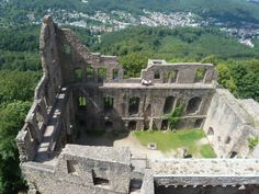 Overview of Baden-Baden Castle Ruins in Baden-Württemberg, Germany