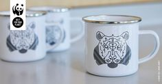 We've printed our iconic Matt Wood tiger design onto premium 8oz enamel and created a brilliantly practical mug that's ideal whether you're doing a spot of gardening or heading further afield - to enjoy festivals, picnics or camping jaunts. You'll probably also choose it when you kick back and enjoy your favourite coffee on a Sunday morning. It's lightweight and virtually unbreakable. Shop here: http://po.st/dnsbYn