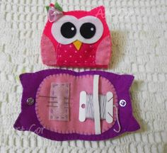 like, ignore the specific product overview, but I do like the layout of this needle book Needle Case, Needle Book, Needle Felting, Owl Sewing, Sewing Crafts, Sewing Kits, Sewing Case, Owl Crafts, Sewing Projects For Kids