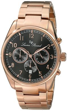 Lucien Piccard Men's LP-10588-RG-11 Moderna Analog Display Japanese Quartz Rose Gold Watch >>> Read more reviews of the watch by visiting the link on the image.