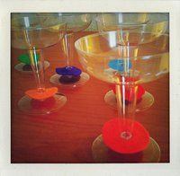 use felt circles for quick party drink markers