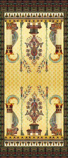 Egyptian Art inspired Digital Design on Behance Ancient Egypt Art, Ancient Aliens, Ancient Artifacts, Ancient Greece, Ancient History, Dark Carpet, Brown Carpet, White Carpet, Plush Carpet