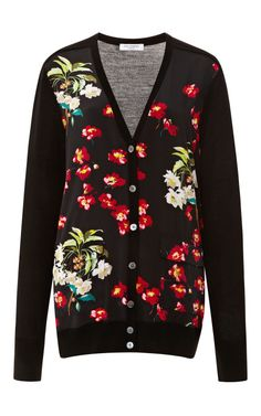 Taylor Printed Silk-Front Wool Cardigan by Equipment - Moda Operandi