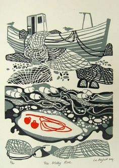 Liz Myhill, The Molly Rose, linocut