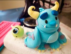 Monsters University/birthday party ideas/kids birthday party ideas/birthday cake ideas/cake decorating/cake decorating ideas/cake decorations/cake design/cake design ideas/cartoon cake designs/kids birthday cakes/kids cakes/birthday themed cakes/cake toppers