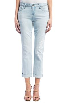 Free shipping and returns on Liverpool Jeans Company Peyton Slim Stretch Crop Boyfriend Jeans (Super Bleach Out) at Nordstrom.com. A totally bleached-out wash and gentle distressing bring a lived-in look to comfy boyfriend jeans cut from soft stretch denim.