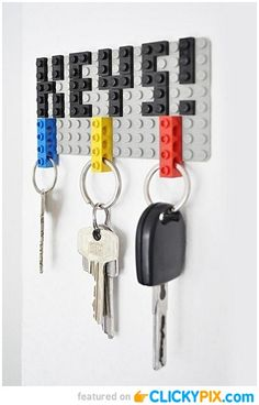 That is so practical! Lego as a keychain and when you come home just put it on the wall