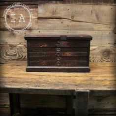 Turn of the Century Wood Tool Box   Etsy Wood Tool Box, Wood Tools, Machinist Tool Box, Key Lock, Dovetail Drawers, Brass Hardware, Decorative Boxes, Give It To Me, Industrial