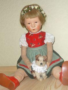 alte Käthe Kruse Puppe VIII
