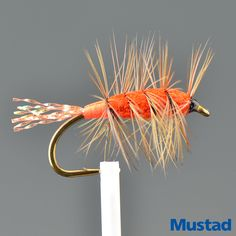 Tied on - Mustad 3399A