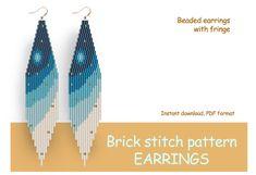 Diy Seed Bead Earrings, Beaded Earrings Patterns, Seed Beads, Loom Patterns, Beading Patterns, Peyote Patterns, Brick Stitch Tutorial, Animal Print Earrings, Bead Crochet Rope