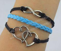 personalized jewelry bracelet heart to heart bracelet by handworld, $3.29