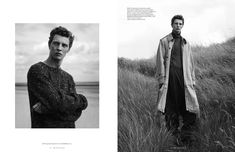 Vogue Man Netherlands takes to the beach with a fall fashion editorial. Relaxed shapes come together with wool and cashmere for the season. Top model Tim Schuhmacher stars in the spread. Appearing in black & Vogue Photography, Portrait Photography Men, Editorial Photography, Photography Ideas, Men Fashion Photography, Vogue Editorial, Men Editorial, Fashion Poses, Fashion Fashion