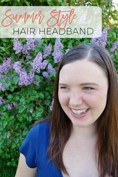 Frizzy and unruly hair does not have to be an issue when you can tie it back with a hair headband.  Check out the tutorial.