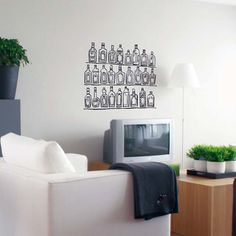 Bottles ~Vinyl Wall Decor