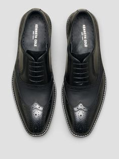 SAY HELLO LEATHER WINGTIP OXFORD, BLACK