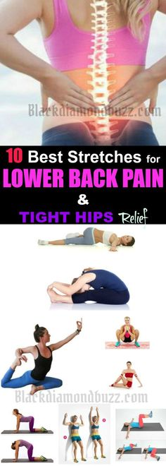 Stretches for Lower Back Pain - Do you want to get rid of lower back pain fast? Here are best stretches for lower back pain and tight hips you can do at home for lower back pain relief. What are the Causes of Lower Back Pain? Degenerative disc disease Back injury Herniated Sciatica Joint dysfunctionSacroiliac joint dysfunction Spinal stenosis Kidney Stones Spinal stenosis Vertebral fracture