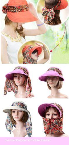 Summer Outdoor Sun Protective Hat Sun Hat Anti-UV Wide Brim Visor Cap