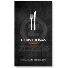 Fork & Knife Logo for Catering, Chef, Restaurant Business Card Template