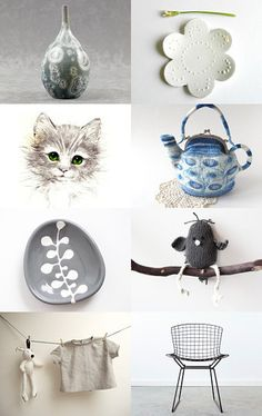 blue grey white by ms blue on Etsy--Pinned with TreasuryPin.com