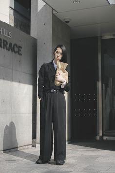 / black clothing