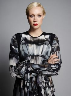 "...  Captain Phasma, even though Christie's face has yet to be revealed inside that chrome armor, definitely has a ""Gwendoline"" signature to her already. Description from vanityfair.com. I searched for this on bing.com/images"