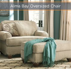 Claim the best seat in the house! The Alma Bay Oversized Chair is plush, roomy and cozy while still delivering high style.