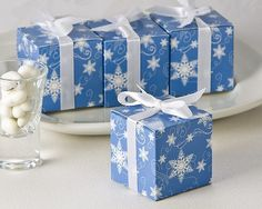 Bottle Stopper Favor - Winter Wishes Snowflake Favor Box (Set of 24), $20.00 (http://www.bottlestopperfavor.com/winter-wishes-snowflake-favor-box-set-of-24/)
