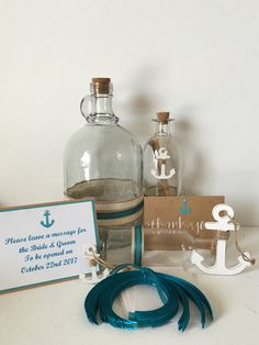 Message in a Bottle - Wedding Guest book - beach/nautical/guest book/ Baby shower #2044 by BejuledCreations on Etsy https://www.etsy.com/listing/214071930/message-in-a-bottle-wedding-guest-book