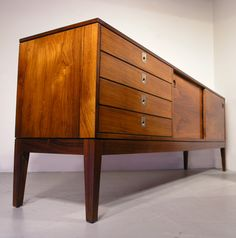Robert Heritage; Rosewood Sideboard for Archie Shine, 1960s.
