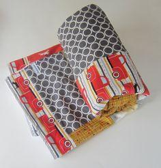 Modern Minky Blanket - Dog Blanket / Truck Quilt - Chevron Baby Blanket