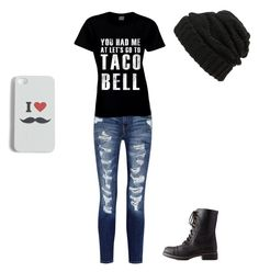 """""""Street"""" by kmc-mc03bh on Polyvore featuring Current/Elliott, Charlotte Russe, Leith and Echo"""
