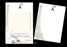 Beautiful Eiffel Tower correspondence paper, great for fountain pens. Comes with envelopes (Modigliani paper)