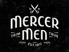 Mercer Men Logo by Simon Walker Typography Logo, Graphic Design Typography, Logo Branding, Lettering, Typography Letters, Logos Vintage, Retro Logos, Design Nike, Simon Walker