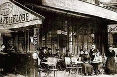 Le café Flore en 1900