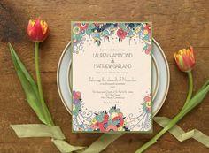 Wedding Invitation Suite Wedding Invitations Art Deco