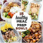 Delicious and healthy meal prep bowl ideas to make lunch and dinner planning so easy. Cook one meal for a week of lunches to take to work.
